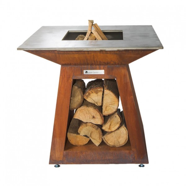 Купить Дровяной гриль Quan Quadro Premium Large Corten  - 1001044 в магазине Grill Point