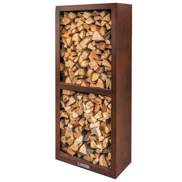 Купить Стеллаж для хранения дров Quan Quadro BASIC Corten  - QN90062 в магазине Grill Point