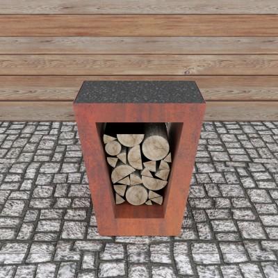 Столик приставной Quadro Premium Corten