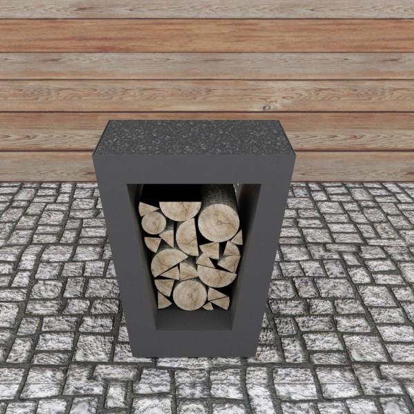 Купить Столик приставной Quadro Premium Carbon - 1001050 в магазине Grill Point