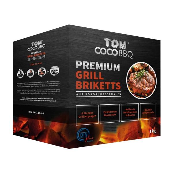 Купить Кококсовые брикеты для гриля TOM COCOCHA, 1 кг  - 1001054 в магазине Grill Point