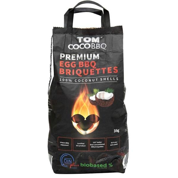 Купить Кококсовые брикеты для гриля TOM COCOCHA, 3 кг  - 1001055 в магазине Grill Point