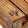 Керамический гриль Big Green Egg XL в столе из акации  - 1001064 фото_2