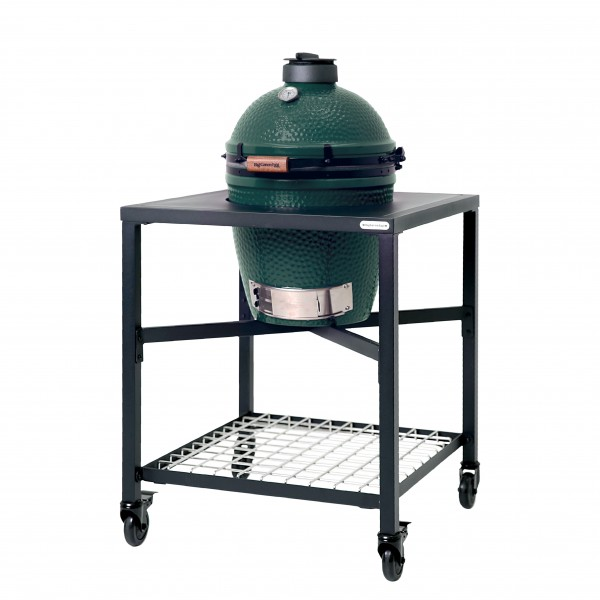 Купить Керамический угольный гриль Big Green Egg MEDIUM каркасном столе - 1001070 в магазине Grill Point