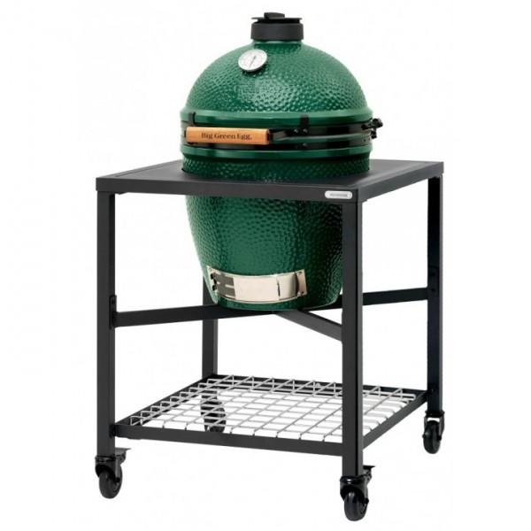 Купить Керамический угольный гриль Big Green Egg LARGE в каркасном столе - 1001071 в магазине Grill Point