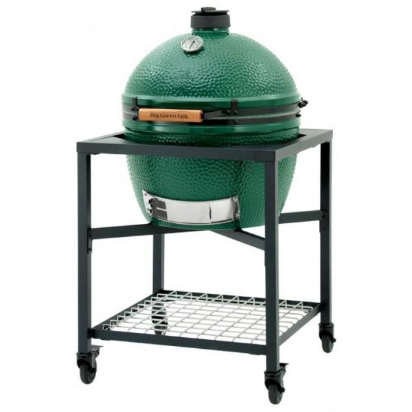 Купить Керамический угольный гриль Big Green Egg XLARGE в каркасном столе - 1001072 в магазине Grill Point