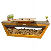 Уличная кухня Quan Rolling Kitchen Corten