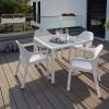Садовый комплект стол 90 х 90 см + 4 стула Lechuza, белый - 10910-5 фото_3