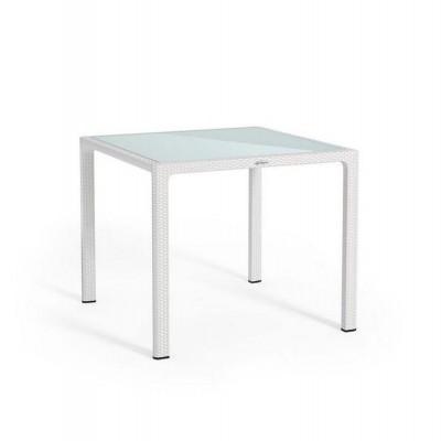 Обеденный стол для сада Lechuza 90 х 90 см, белый