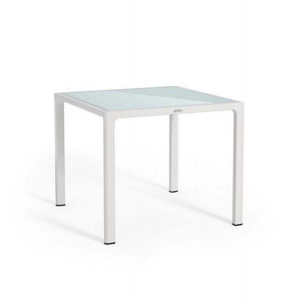 Купить Обеденный стол для сада Lechuza 90 х 90 см, белый - 10910 в магазине Grill Point