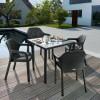Садовый комплект стол 90 х 90 см + 4 стула Lechuza, серый - 10913-5 фото_2