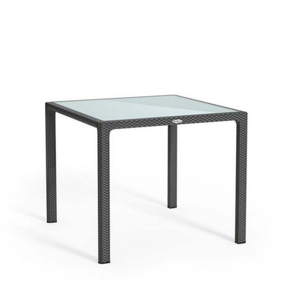Купить Обеденный стол для сада Lechuza 90 х 90 см, серый - 10913 в магазине Grill Point