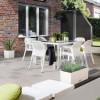 Садовый комплект стол 160 х 90 см + 4 стула Lechuza, белый - 10930-7 фото_1
