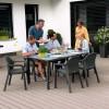 Садовый комплект стол 160 х 90 см + 4 стула Lechuza, серый - 10933-7 фото_1