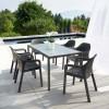 Садовый обеденный стол Lechuza, 160 х 90 см, серый - 10933 фото_1