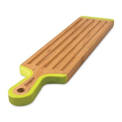 Доска разделочная длинная BergHOFF, бамбуковая с длинной силиконовой ручкой