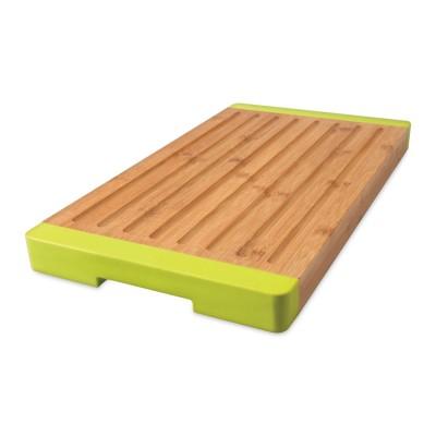 Доска разделочная BergHOFF для нарезания с желобками, бамбуковая