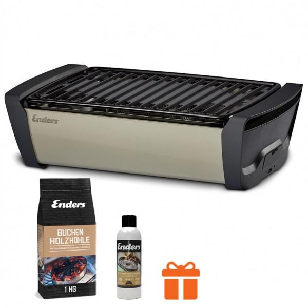 Купить Бездымный настольный гриль на углях Enders Aurora Taupe - 1363K в магазине Grill Point