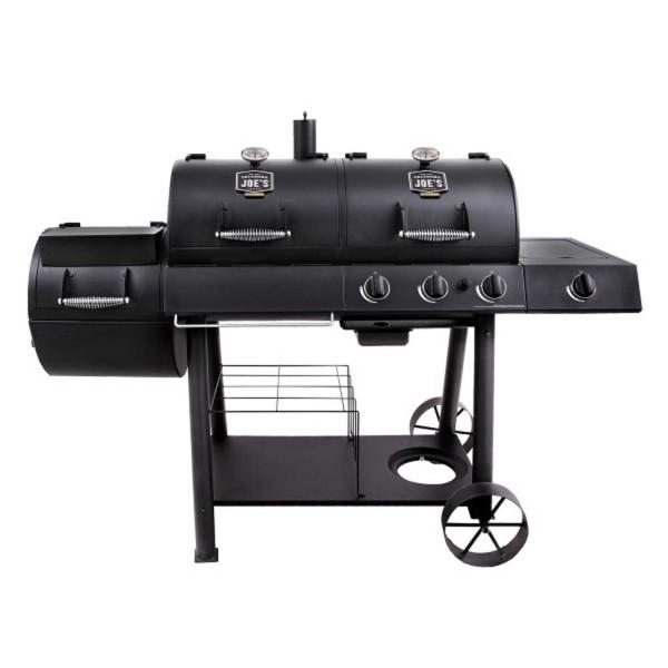 Купить Угольно-газовый гриль-коптильня Oklahoma Joe's Longhorn Combo Charcoal / Gas Smoker Grill - 15202029 в магазине Grill Point