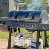 Угольно-газовый гриль-коптильня Oklahoma Joe's Longhorn Combo Charcoal / Gas Smoker Grill - 15202029 фото_6