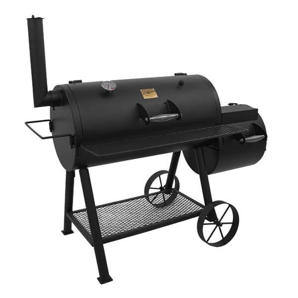 Купить Классическая угольная коптильня начального профессионального класса OKLAHOMA JOE'S HIGHLAND REVERSE-FLOW SMOKER/GRILL - 17202052 в магазине Grill Point