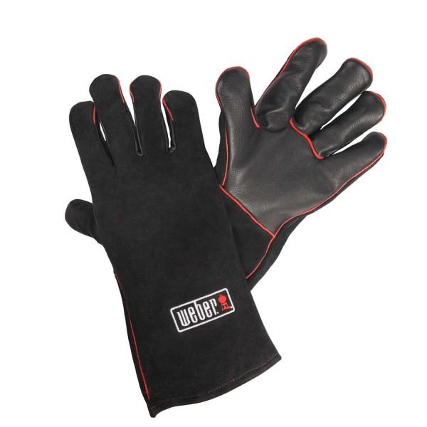 Купить Кожаные жаропрочные перчатки для гриля Weber  - 17896 в магазине Grill Point