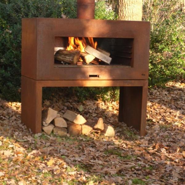"""Купить Камин-мангал  Dr.Fire """"ENOK"""" на подставке - 2000111 в магазине Grill Point"""