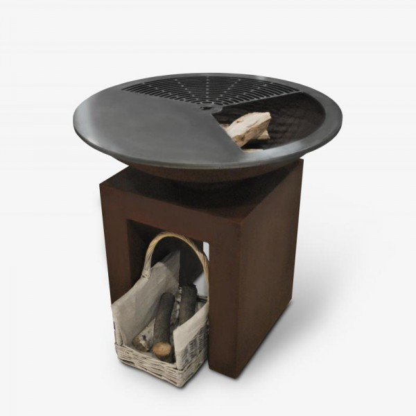 Купить Гриль-мангал 83 см на пьедестале сталь Dr.Fire CorTen - 2000127 в магазине Grill Point