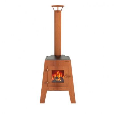 Мангал-камин с грилем Dr.Fire DAMM