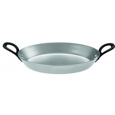 Сковородка 28 см железная з двумя ручками Rosle