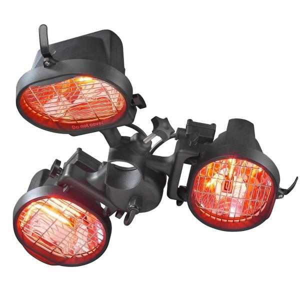 Купить Инфракрасный электрический обогреватель Eurom для зонтика, 3-х ламповый - 333329 в магазине Grill Point