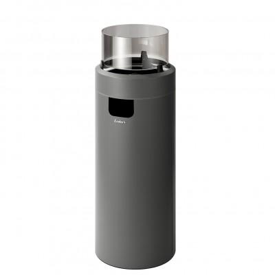Газовый уличный камин Enders NOVA LED L, серый 50 мбар (2,5 кВт)