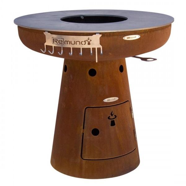 Купить Дровяной гриль ReMundi NERO L 105 - 800702 в магазине Grill Point