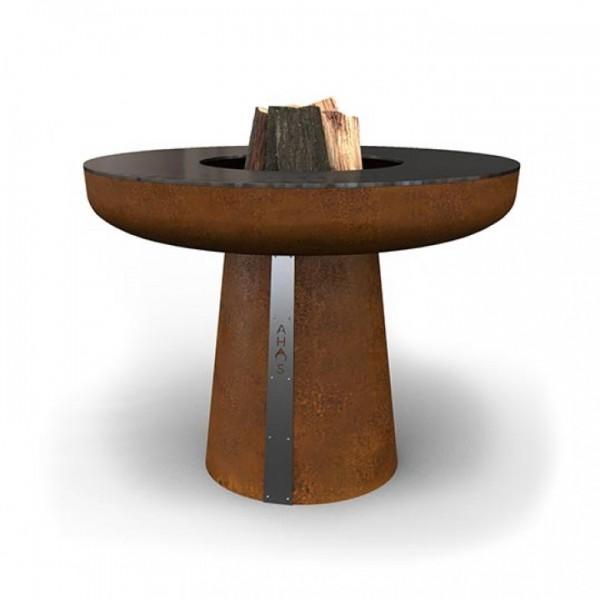 Купить Гриль-очаг на дровах AHOS BIG SPHERE, 100 см, ржавый - AHOS-BIG-SPHERE-1 в магазине Grill Point