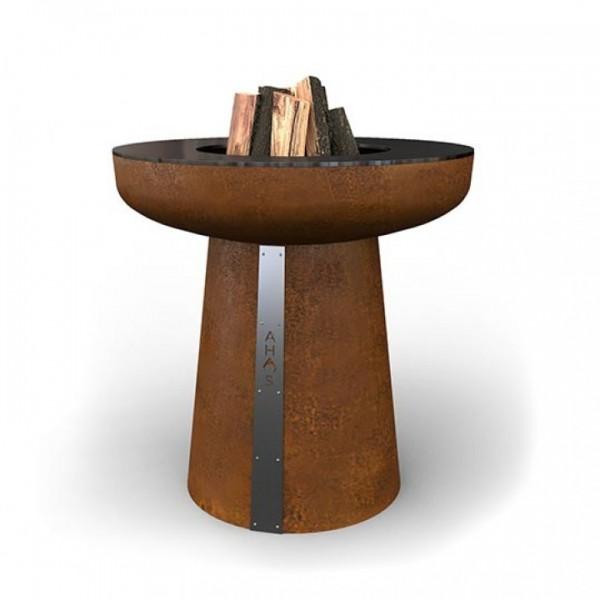 Купить Гриль-очаг на дровах AHOS SPHERE, 75 см, ржавый - AHOS-SPHERE-1 в магазине Grill Point