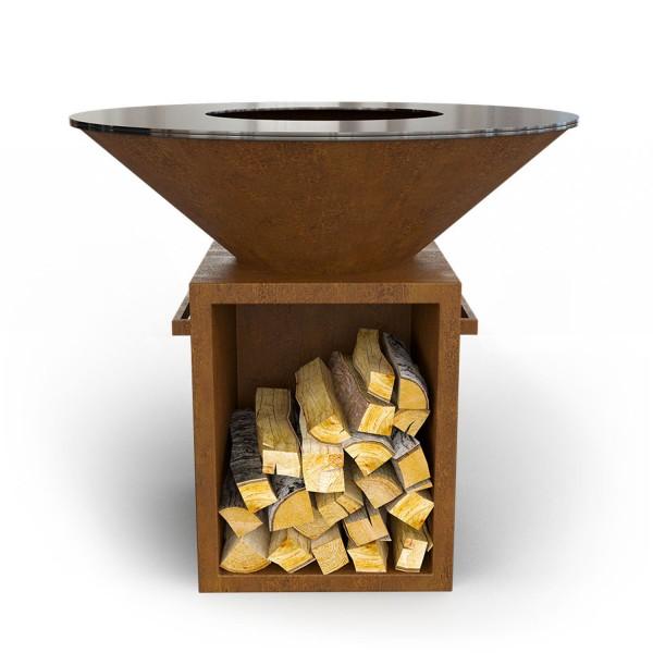 Купить Дровяной гриль-мангал AHOS BOX, ржавый - AHOS_BOX_1000 в магазине Grill Point