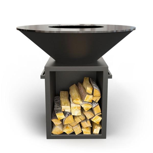 Купить Дровяной гриль-мангал AHOS BOX, черный - AHOS_BOX_1000_BL в магазине Grill Point