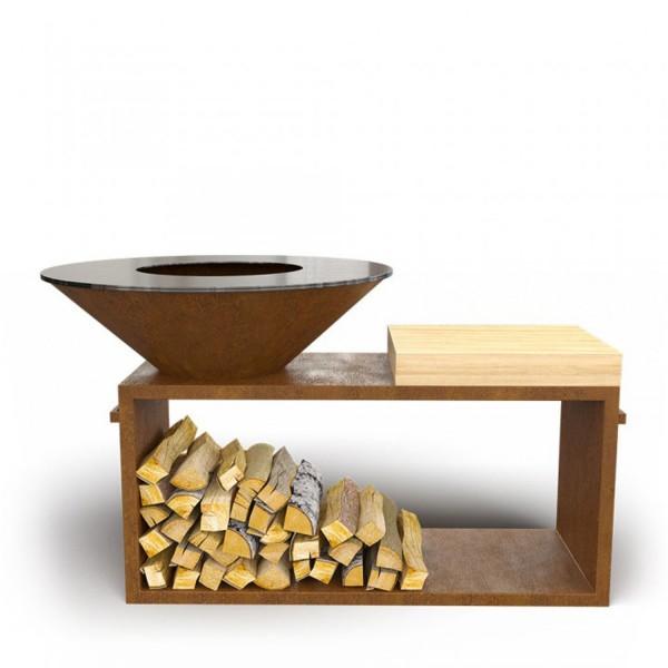 Купить Дровяной гриль-мангал AHOS PRO, ржавый - AHOS_PRO в магазине Grill Point