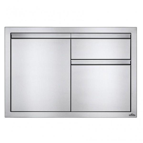 Купить Встраиваемый элемент с выдвижным ящиком, отсеком для мусора и отсеком с дверью, малый 91х61 см Napoleon - BI-3624-1D1W в магазине Grill Point
