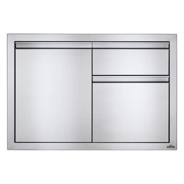 Купить Встраиваемый элемент с 2-мя выдвижными ящиками и отсеком с дверью, малый 91х61 см Napoleon - BI-3624-1D2DR в магазине Grill Point