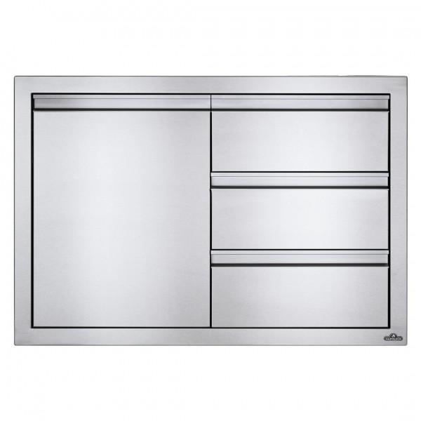 Купить Встраиваемый элемент с 3-мя выдвижными ящиками и отсеком с дверью, малый 91х61 см Napoleon - BI-3624-1D3DR в магазине Grill Point