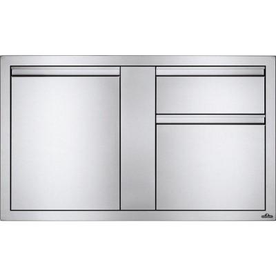 Встраиваемый элемент с 2-мя выдвижными ящиками и отсеком с дверью, большой 107х61 см Napoleon