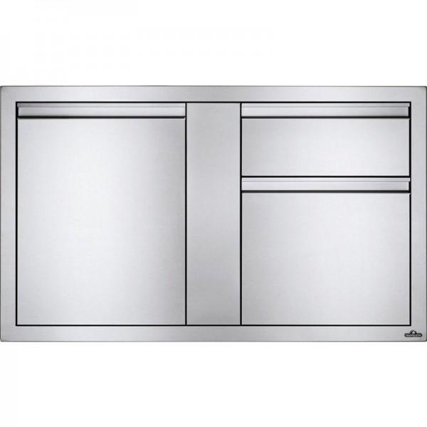 Купить Встраиваемый элемент с 2-мя выдвижными ящиками и отсеком с дверью, большой 107х61 см Napoleon - BI-4224-1D2DR в магазине Grill Point