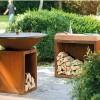 Тумба-стол OFYR c отсеком для хранения дров, большая - Butcher-storage-big фото_2