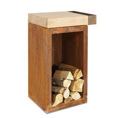Тумба-стол OFYR c отсеком для хранения дров