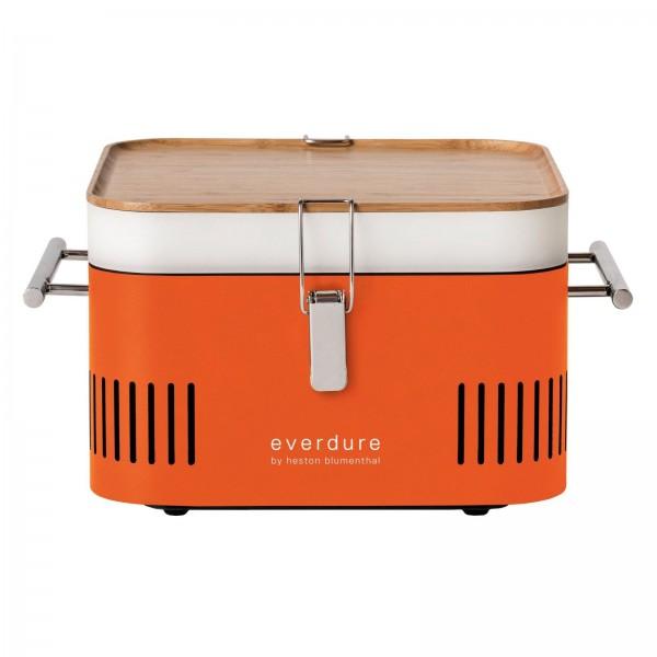 Купить Переносной угольный гриль Everdure Cube, оранжевый - Cube_O в магазине Grill Point