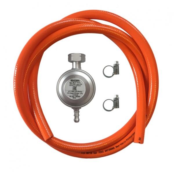 Купить Комплект: газовый шланг 80 см, редуктор 30 мбар - Н01 в магазине Grill Point