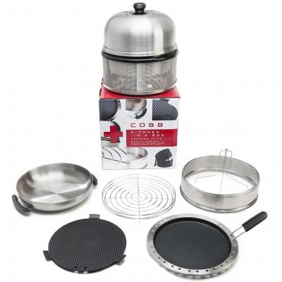 Портативный мини угольный гриль Cobb Premier Kitchen in a box