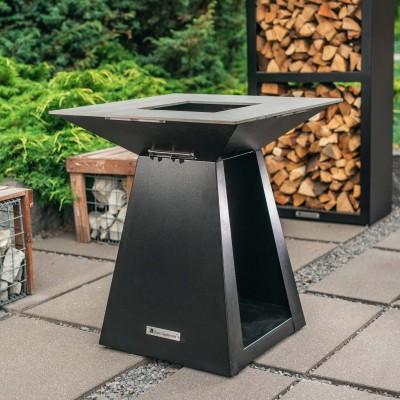 Дровяной гриль-очаг Quan Quadro Premium Medium Carbon 80 х 80 см