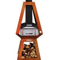 Печь для пиццы на дровах Quan, ржавый